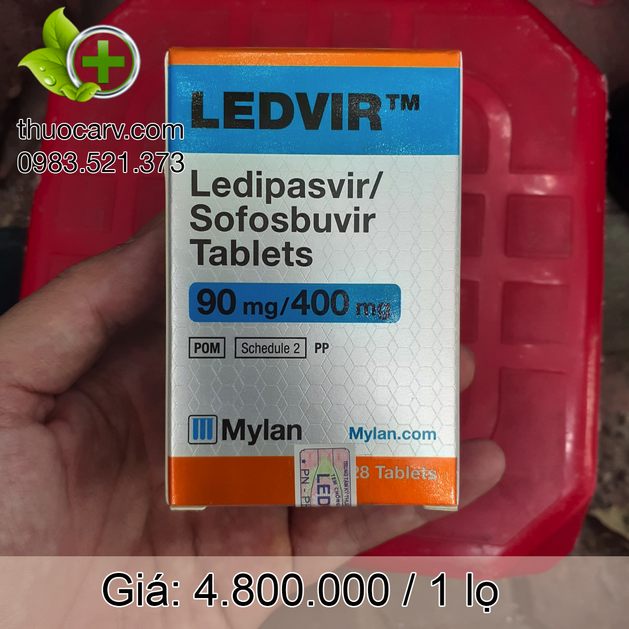 Thuốc Ledvir 90mg/400mg.