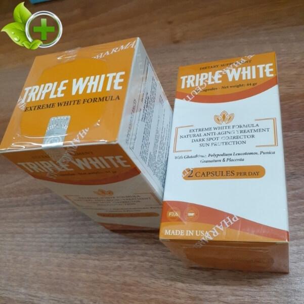 Viên uống trắng da Triple White