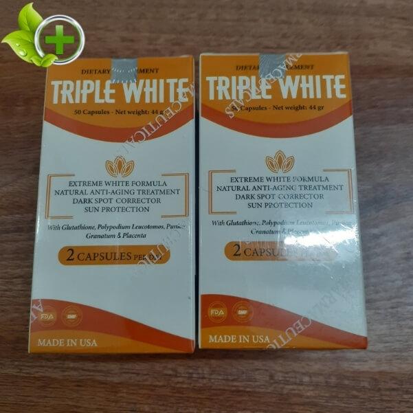 Viên uống Triple White giá bao nhiêu